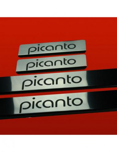 RENAULT SCENIC MK2 SCENIC Stainless Steel 304 Mirror Finish Interior Door sills kick plates