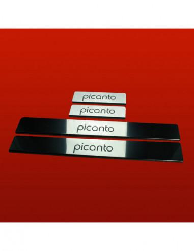 RENAULT LAGUNA MK3 LAGUNA Stainless Steel 304 Mirror Finish Interior Door sills kick plates