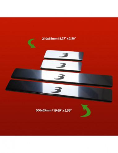 RENAULT THALIA MK2 THALIA Stainless Steel 304 Mirror Finish Interior Door sills kick plates
