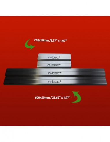 RENAULT TWINGO MK1 TWINGO Stainless Steel 304 Mirror Finish Interior Door sills kick plates