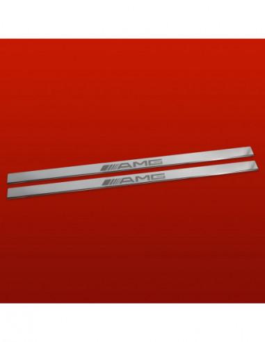 RENAULT MEGANE MK1 MEGANE Stainless Steel 304 Mirror Finish Interior Door sills kick plates
