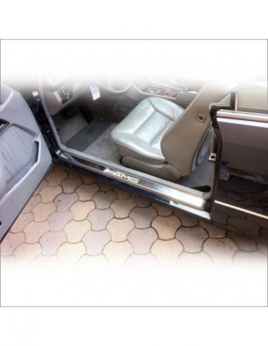 TOYOTA AYGO MK1 AYGO Stainless Steel 304 Mirror Finish Black Inscriptions Interior Door sills kick plates