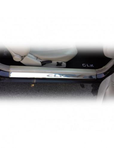 TOYOTA AYGO MK1 AYGO Stainless Steel 304 Mat Finish Black Inscriptions Interior Door sills kick plates