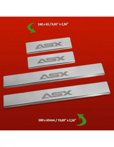 VW TIGUAN MK1 TIGUAN Stainless Steel 304 Mirror Finish Interior Door sills kick plates