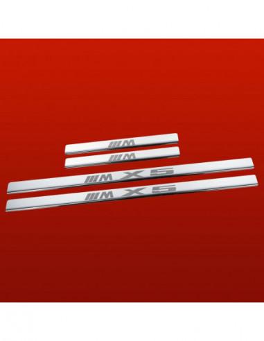 BMW X6 E71 M X6 TYPE1 Stainless Steel 304 Mirror Finish Interior Door sills kick plates