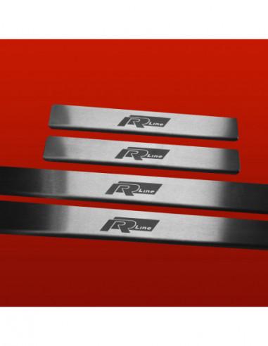 SKODA OCTAVIA MK1 VRS OCTAVIA Stainless Steel 304 Mirror Finish Interior Door sills kick plates