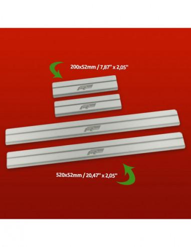 SKODA OCTAVIA MK2 OCTAVIA Stainless Steel 304 Mirror Finish Interior Door sills kick plates