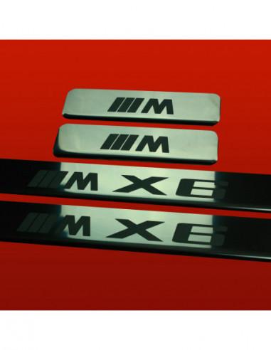 BMW X6 E71 M X6 TYPE2 Stainless Steel 304 Mirror Finish Interior Door sills kick plates