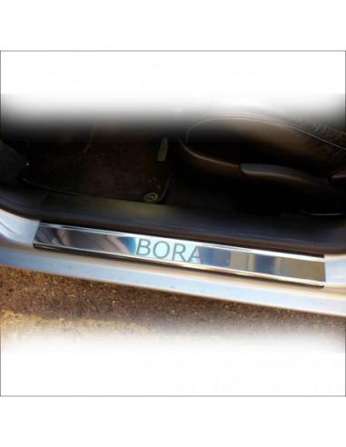 FIAT PANDA MK3 PANDA Stainless Steel 304 Mirror Finish Interior Door sills kick plates