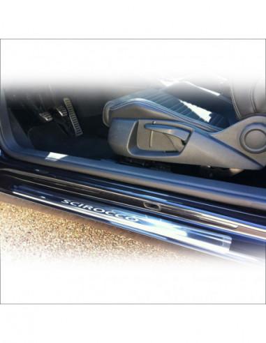 OPEL/VAUXHALL CORSA D OPC Stainless Steel 304 Mirror Finish Interior Door sills kick plates
