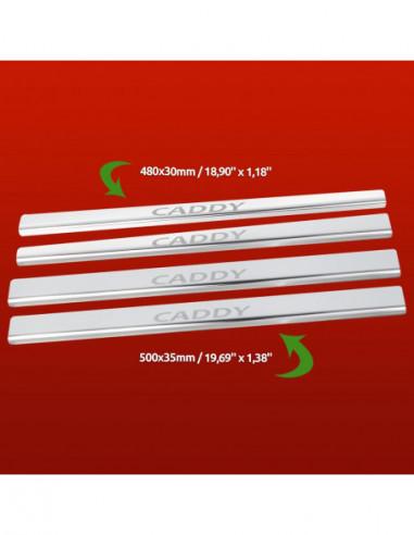 OPEL/VAUXHALL CORSA D VXR Stainless Steel 304 Mirror Finish Interior Door sills kick plates
