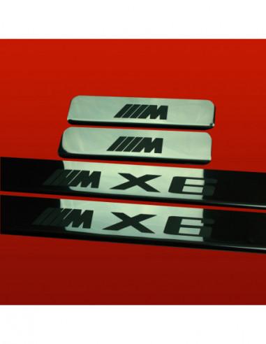 BMW X6 E71 M X6 TYPE3 Stainless Steel 304 Mirror Finish Interior Door sills kick plates