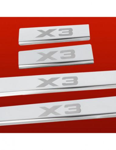 BMW X3 E83 M X3 TYPE2 Stainless Steel 304 Mirror Finish Interior Door sills kick plates