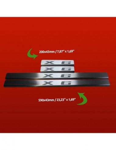 PEUGEOT 508 MK1 508 SW Stainless Steel 304 Mirror Finish Interior Door sills kick plates