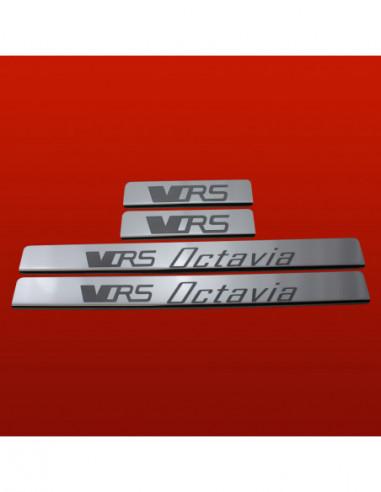 MERCEDES C W204 AMG Stainless Steel 304 Mirror Finish Interior Door sills kick plates