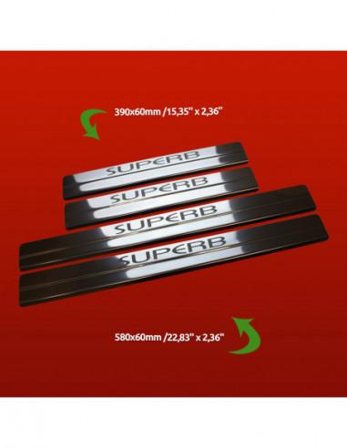 CHRYSLER 300C MK1 300 C Stainless Steel 304 Mirror Finish Interior Door sills kick plates