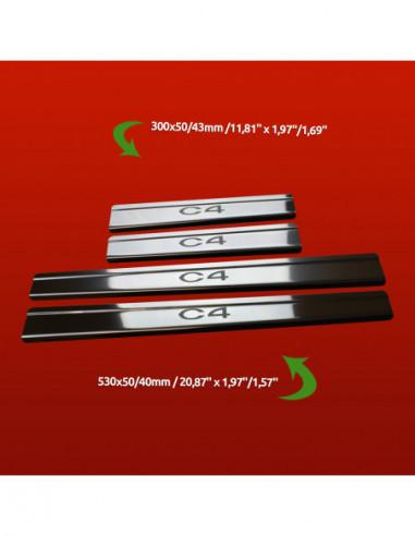 CITROEN XSARA  XSARA Stainless Steel 304 Mirror Finish Interior Door sills kick plates