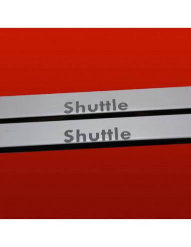 DACIA DUSTER MK1 DUSTER Stainless Steel 304 Mirror Finish Interior Door sills kick plates