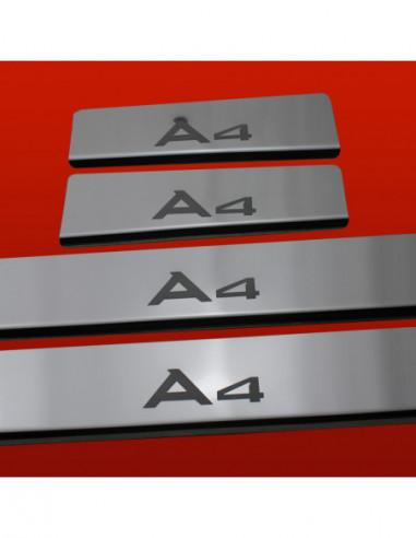 AUDI A6 C6 SLINE Stainless Steel 304 Mirror Finish Interior Door sills kick plates