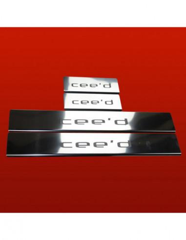 FIAT PUNTO EVO  PUNTO EVO Stainless Steel 304 Mirror Finish Interior Door sills kick plates