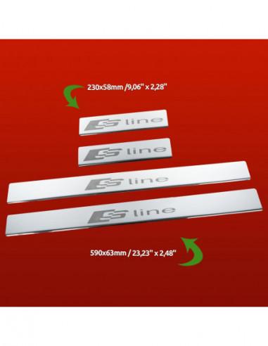 AUDI A6 C5 A6 Stainless Steel 304 Mirror Finish Interior Door sills kick plates