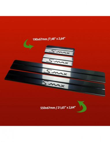 FORD FIESTA MK7 RS Stainless Steel 304 Mirror Finish Interior Door sills kick plates