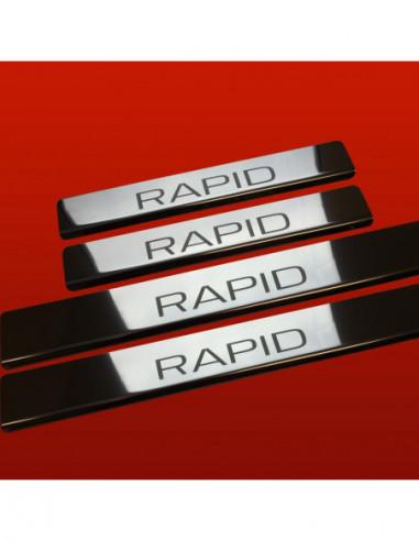 ALFA ROMEO GIULIETTA  GIULIETTA S Stainless Steel 304 Mat Finish Interior Door sills kick plates