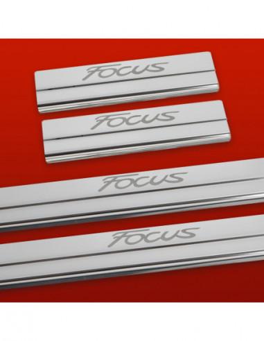 FORD FIESTA MK7 TITANIUM Stainless Steel 304 Mirror Finish Interior Door sills kick plates