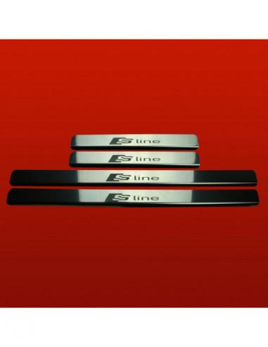 AUDI A5 B8 A5 Stainless Steel 304 Mirror Finish Interior Door sills kick plates