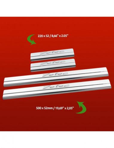 FORD C-MAX MK1 C-MAX Stainless Steel 304 Mirror Finish Interior Door sills kick plates