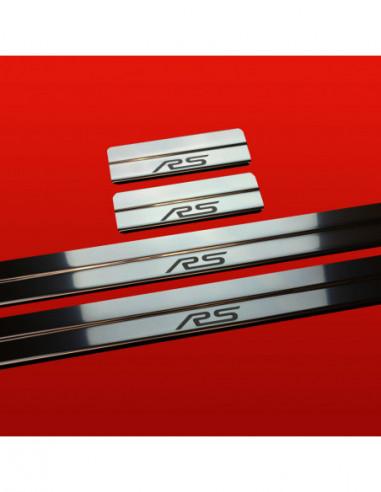 KIA RIO MK2 RIO Stainless Steel 304 Mirror Finish Interior Door sills kick plates