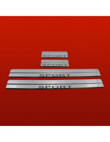KIA RIO MK1 RIO Stainless Steel 304 Mirror Finish Interior Door sills kick plates