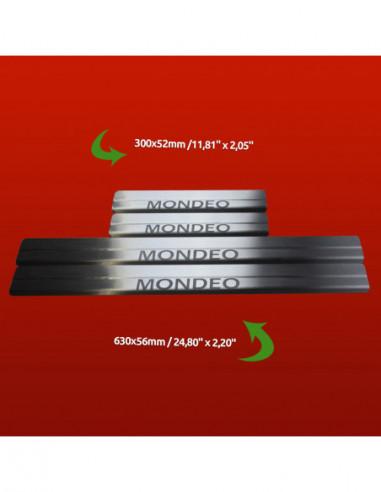 KIA CEE'D MK1 CEE'D Stainless Steel 304 Mirror Finish Interior Door sills kick plates