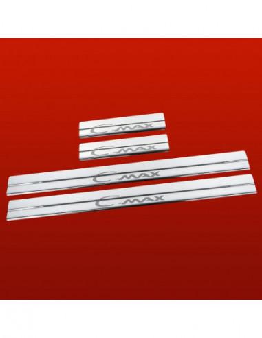 MERCEDES E W124 AMG Stainless Steel 304 Mirror Finish Interior Door sills kick plates