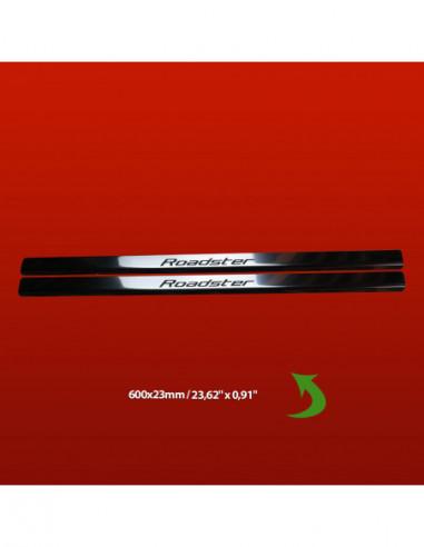 ALFA ROMEO GIULIETTA  GIULIETTA Stainless Steel 304 Mirror Finish Black Inscriptions Interior Door sills kick plates