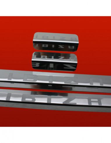 ALFA ROMEO MITO  MITO Stainless Steel 304 Mat Finish Black Inscriptions Interior Door sills kick plates